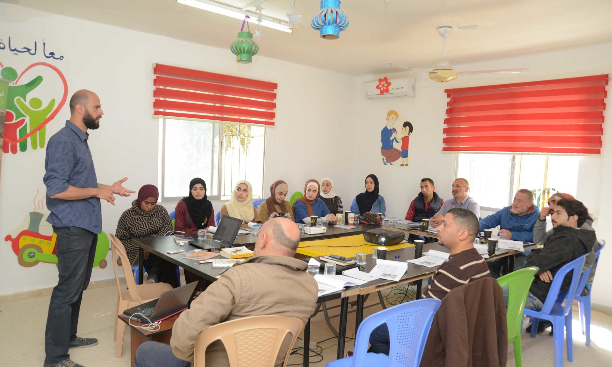 Local guides training in Wadi Gharaba - Jordan Valley